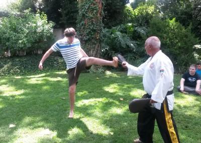 James kicking